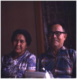 [Unidentified man and woman, Hazelton area]