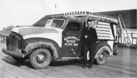Man posed with a truck