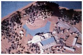 Model of new museum and grounds