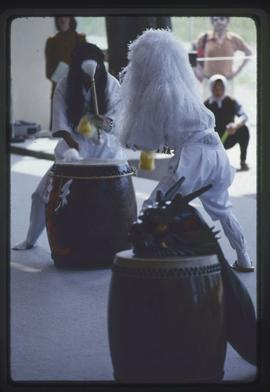 Performers and drums