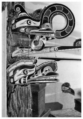 Kwakwaka'wakw mask display at U.B.C. Museum of Anthropology