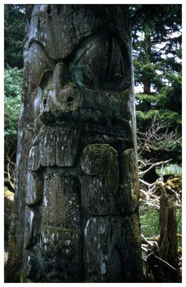 Ninstints (?), totem pole