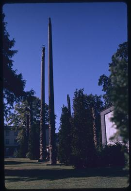 (Replica) Tsimshian and Haida memorial poles #9, 10, 13, 14, 15, + 17, Thunderbird Park, Victoria...